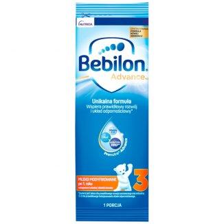 Bebilon 3 Advance, mleko modyfikowane, po 1 roku, 30,6 g x 1 saszetka - zdjęcie produktu