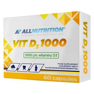 Allnutrition, witamina D3 1000 j.m, 60 kapsułek - zdjęcie produktu