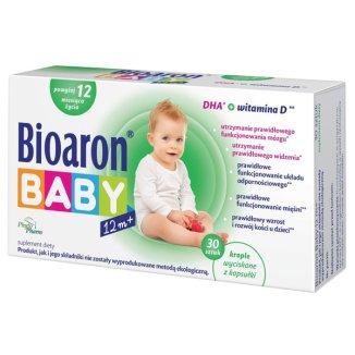 Bioaron Baby DHA, powyżej 12 miesiąca życia, 30 kapsułek twist-off - zdjęcie produktu