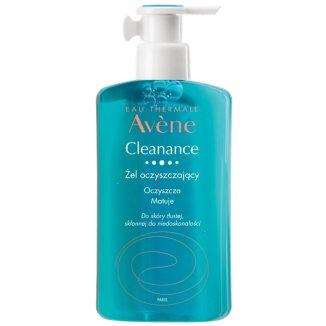 Avene Cleanance, żel oczyszczający do twarzy i ciała, skóra tłusta ze skłonnością do niedoskonałości, 400 ml - zdjęcie produktu