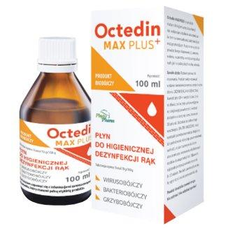 Octedin Max Plus+, płyn do higienicznej dezynfekcji rąk, 100 ml - zdjęcie produktu