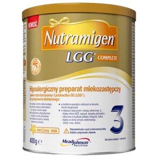 Nutramigen 3 LGG Complete, hipoalergiczny preparat mlekozastępczy, powyżej 1 roku, smak waniliowy, 400 g - zdjęcie produktu
