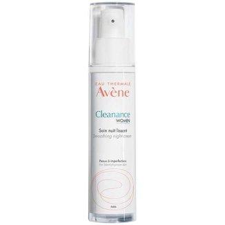 Avene Cleanance Women, krem wygładzający na noc, skóra tłusta i trądzikowa, 30 ml - zdjęcie produktu