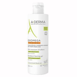 A-Derma Exomega Control, pieniący się żel emolient pod prysznic i do kąpieli, skóra skłonna do atopii, od urodzenia, 500 ml - zdjęcie produktu