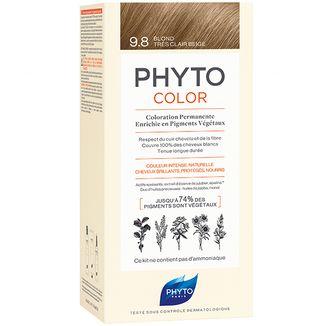 Phyto Phytocolor 9.8, farba koloryzująca do włosów, bardzo jasny beżowy blond - zdjęcie produktu