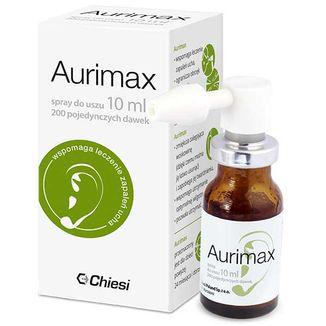 Aurimax, spray do uszu, 12 naturalnych składników, 10 ml - zdjęcie produktu