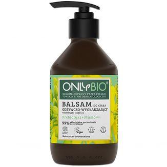 OnlyBio, balsam do ciała odżywczo-wygładzający, prebiotyki + masło shea, 250 ml - zdjęcie produktu